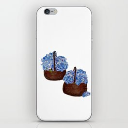 Two Baskets of Hydrangea Love iPhone Skin