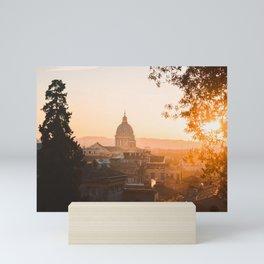 Sunsets in Rome Mini Art Print
