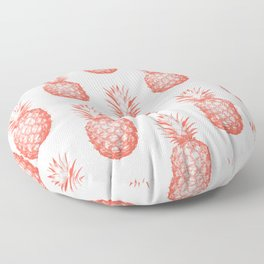 Coral Pineapple Floor Pillow