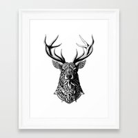 ornate Framed Art Prints featuring Ornate Buck by BIOWORKZ