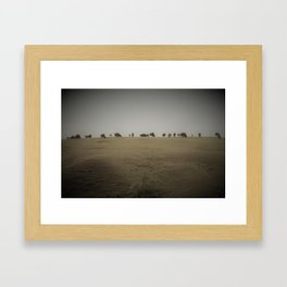 Hill of Buffalo Framed Art Print