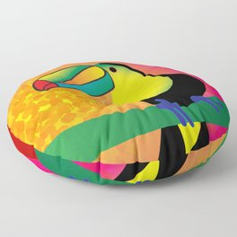 Toucan - Red Floor Pillow