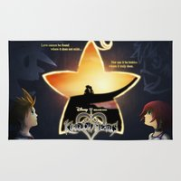 kingdom hearts Area & Throw Rugs featuring Kingdom Hearts - Fated Together by Fancy Pants Artistry