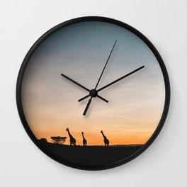 Sunrise in Kenya Wall Clock