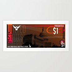 USD Currency // $1 Art Print