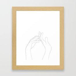tendresse Framed Art Print