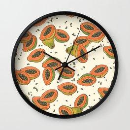 papaya pattern Wall Clock