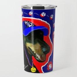 """""""LA D BASEBALL,MY CHAMPION DOG"""",USA ART SPORTS SERIES. Travel Mug"""