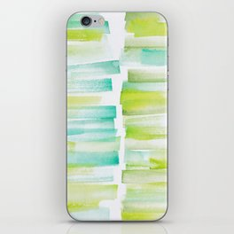 6 | 181101 Watercolour Palette Abstract Art | Lines | Stripes | iPhone Skin