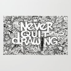 Never Quit Drawing Rug