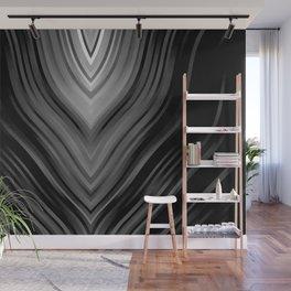 stripes wave pattern 3 bwbi Wall Mural