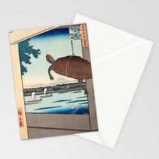 Ando Hiroshige Mannen Bridge, Fukagawa Stationery Cards