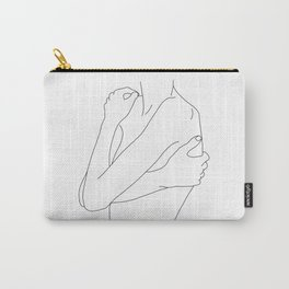 Woman's body line drawing illustration - Dahl Carry-All Pouch