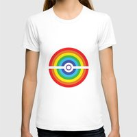 pokeball T-shirts featuring Rainbow Pokeball by Hi 5 Graphics