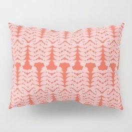 Pink Trailing Leaves Pattern Pillow Sham