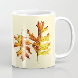 Ink And Watercolor Painted Dancing Autumn Leaves Coffee Mug