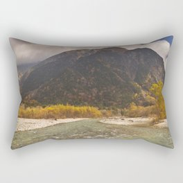 Azusa River and Autumn colours in Kamikochi, Japan Rectangular Pillow