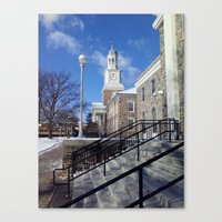 college Canvas Prints featuring College Life by R.S.Burrell