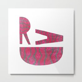 Rad - Red Metal Print