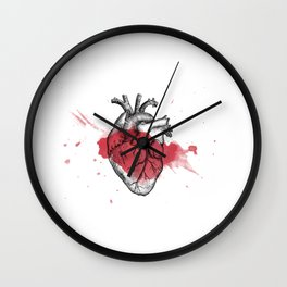Anatomical heart - Art is Heart  Wall Clock