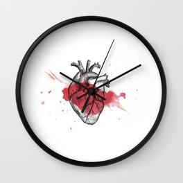 Anatomical heart - Art is Heart  Wall Clock