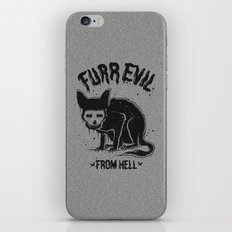 furr evil iPhone & iPod Skin