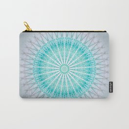 Turquoise Boho Mandala Carry-All Pouch