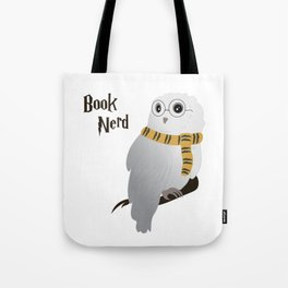 Book Nerd Hedwig - Hufflepuff Tote Bag