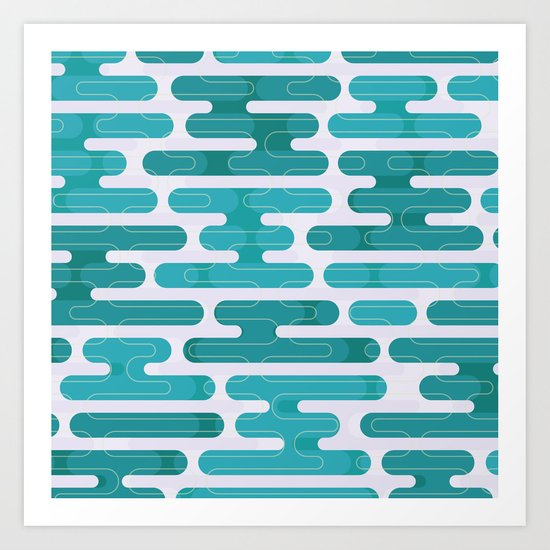 Modern japanese pattern. Art Print