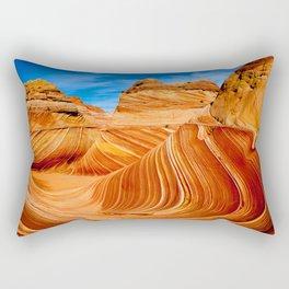 Blue & Brown Nature Rectangular Pillow