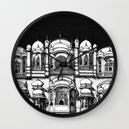 Hawa Mahal (Charcoal) Wall Clock
