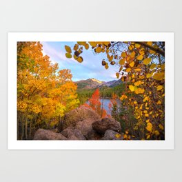 Fall In The Rocky Mountains Art Print