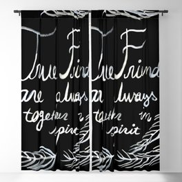 True Friends Are Always Together In Spirit Anne Of Green Gables Blackout Curtain