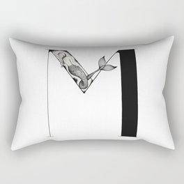 Mermaid Alphabet - M Rectangular Pillow