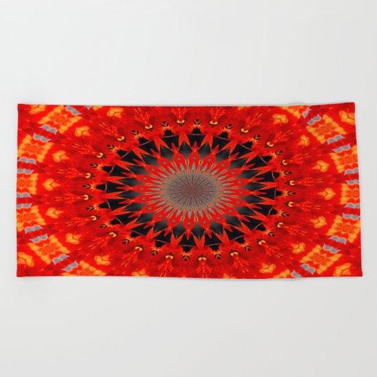 RED CIRCLE Beach Towel