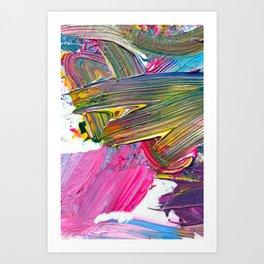 An Artist's Colorful Paint Palette with Rainbow Paint Smears  Art Print