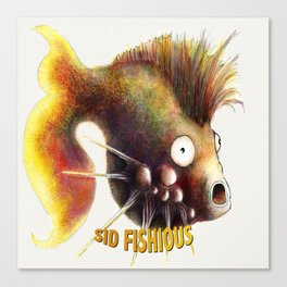Sid Fishious with name Canvas Print