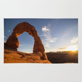 Sunset at Delicate Arch Rug