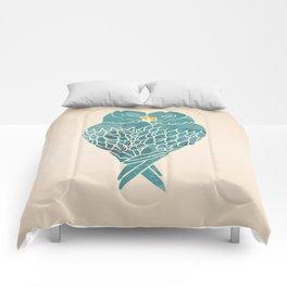Love Birds (Blue) Comforters