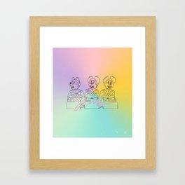 Shook Mickey Mice Framed Art Print