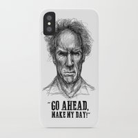 clint eastwood iPhone & iPod Cases featuring CLINT EASTWOOD  by Ani Dvaladze