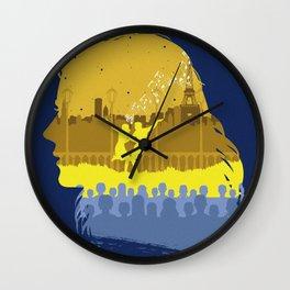 The Many Faces of Cinema: LaLaLand (Mia Ver.) Wall Clock