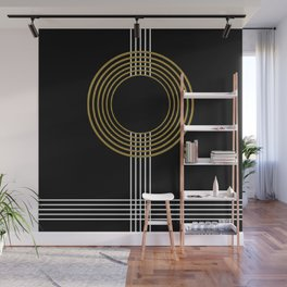 GUITAR IN ABSTRACT (geometric art deco) Wall Mural