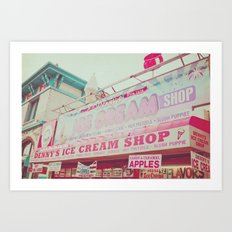 Ice Cream Shop Art Print