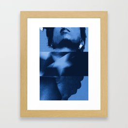 commie blue Framed Art Print
