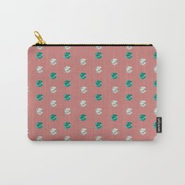 Vintage Floral Pansy Print Carry-All Pouch