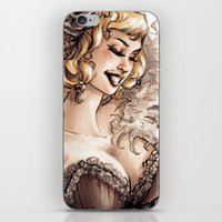 burlesque iPhone & iPod Skins featuring Burlesque by Simona Bonafini