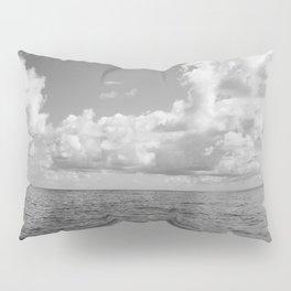 Monochrome Ocean View Pillow Sham