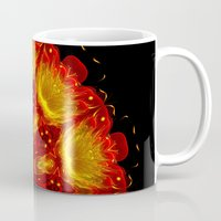 phoenix Mugs featuring Phoenix by Mr. Pattern Man