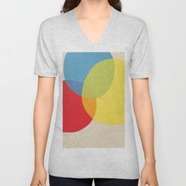 Primary colors abstract color scheme 1 Unisex V-Neck